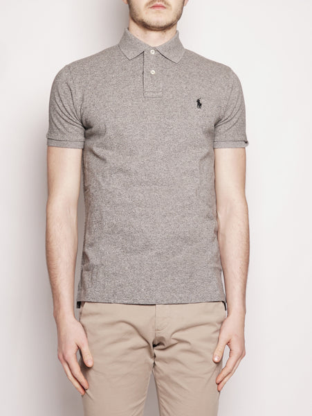 RALPH LAUREN Polo in piqué Custom Slim-Fit Grigio Trymeshop.it