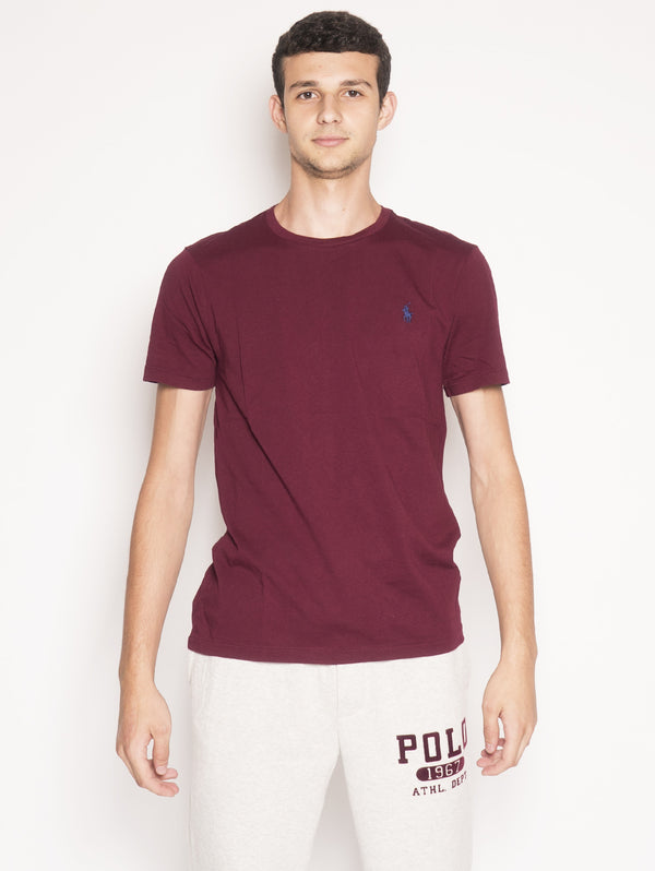 RALPH LAUREN-T-Shirt in Cotone Rosso-TRYME Shop