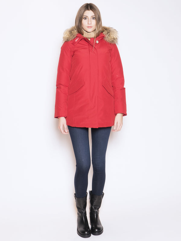 WOOLRICH-Giaccone parka in ramar Rosso-TRYME Shop