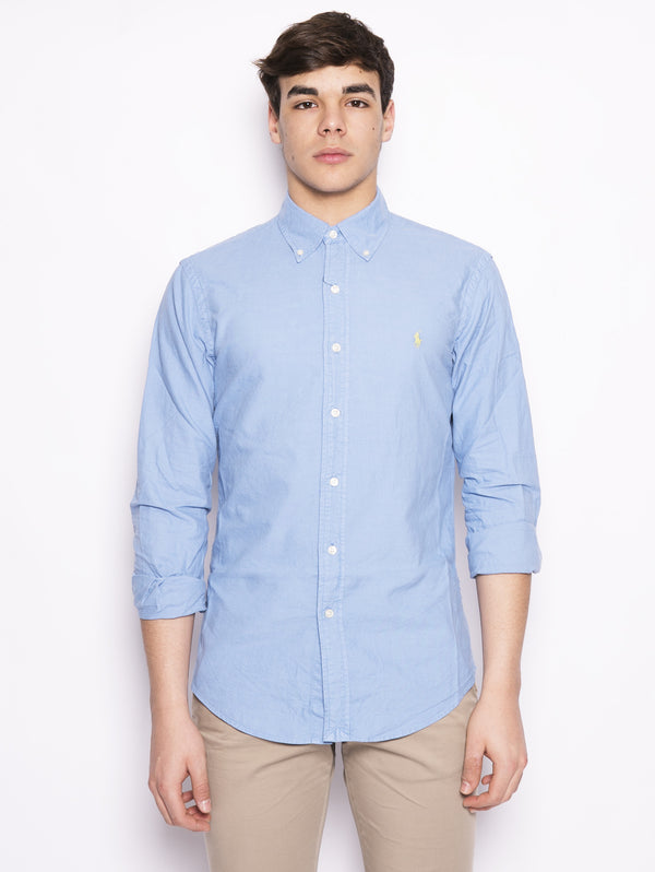 Camicia Oxford Slim-Fit Celeste-Camicie-RALPH LAUREN-TRYME Shop