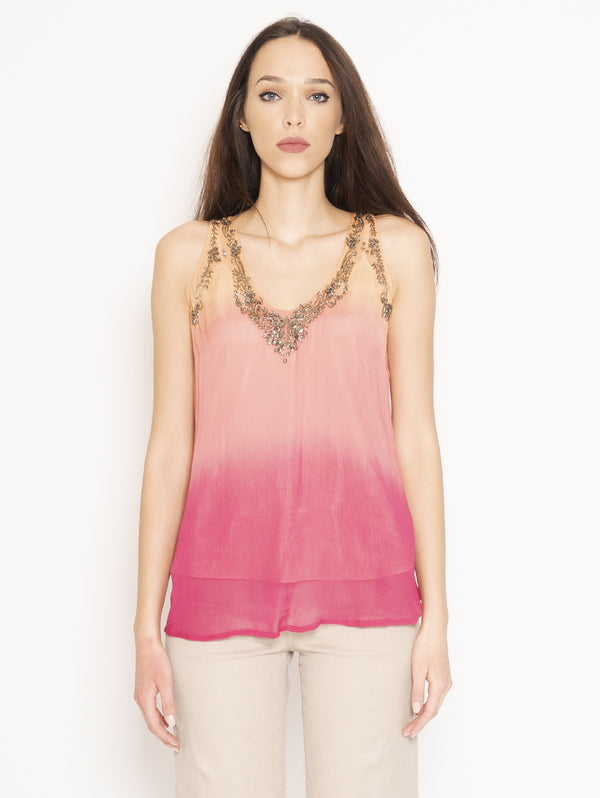 TWIN SET-Blusa con Paillettes Multicolor-TRYME Shop