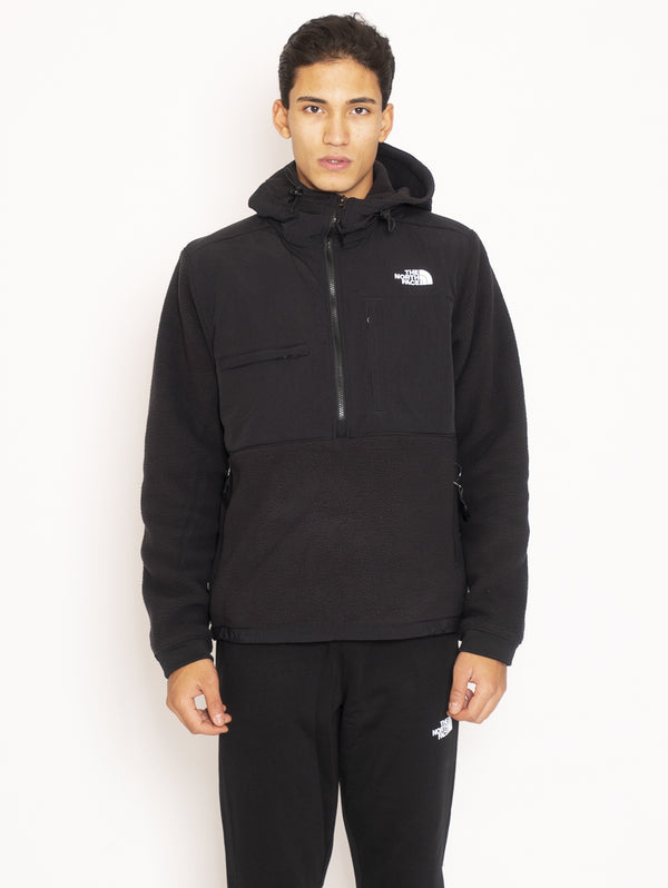THE NORTH FACE-Felpa Anorak in pile riciclato - Nero-TRYME Shop