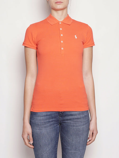 Polo stretch Slim-Fit Arancio