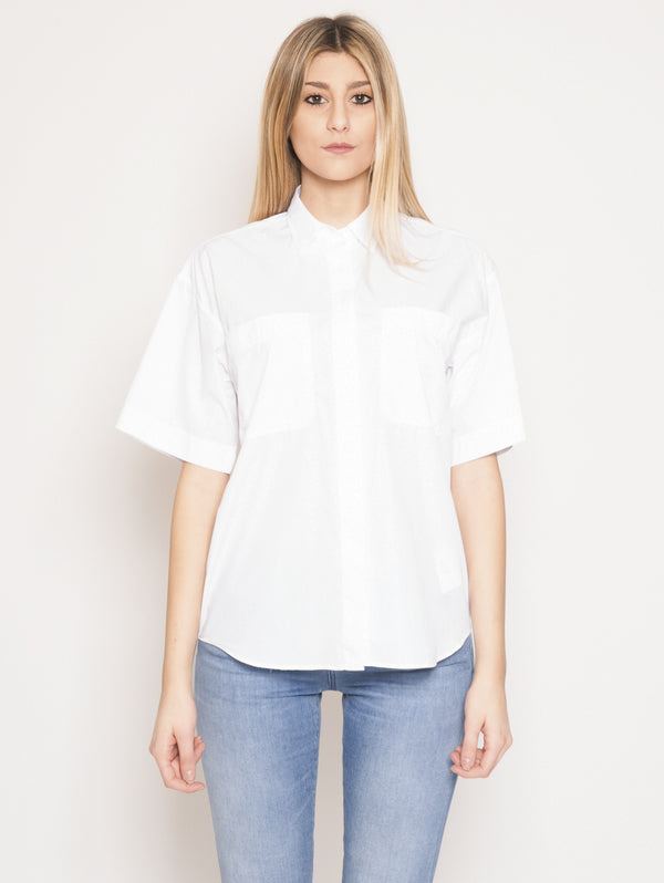CLOSED-Camicia in Popeline Bianco-TRYME Shop