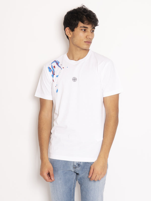 STONE ISLAND-T-shirt Acquadrone two - Bianco-TRYME Shop