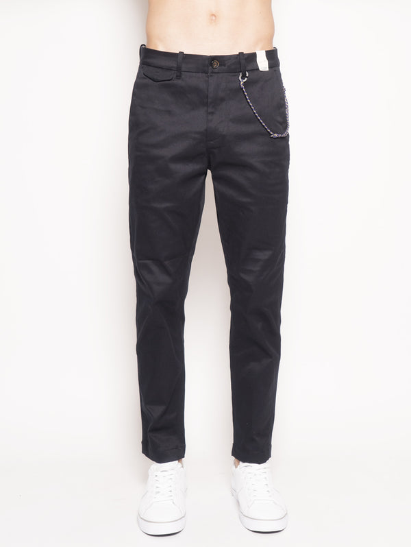 Atelier Cropped Regular Fit Japanese Twill Chino Blu