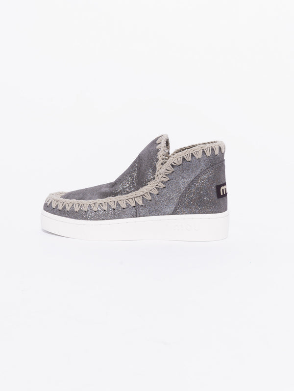 New low-cut summer eskimo sneaker perforated microglitter Beige
