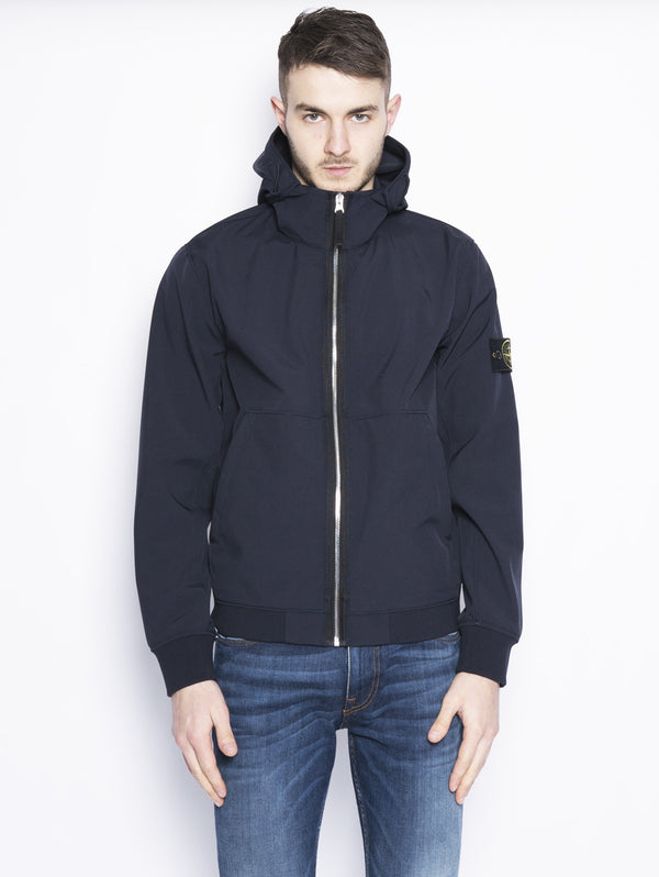 43427 LIGHT SOFT SHELL-R Blu-Jacket-STONE ISLAND-TRYME Shop