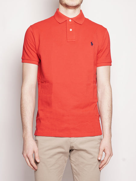 Polo in piqué Custom Slim-Fit Rosso