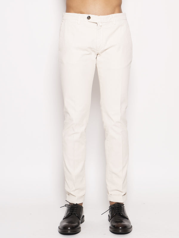 40WEFT-Chino in cavalry twill Bianco-TRYME Shop