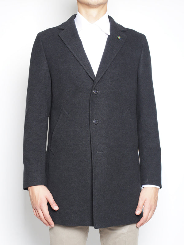 Cappotto tre bottoni 2132C4448 163726 ANTRACITE-Cappotto-Manuel Ritz-TRYME Shop