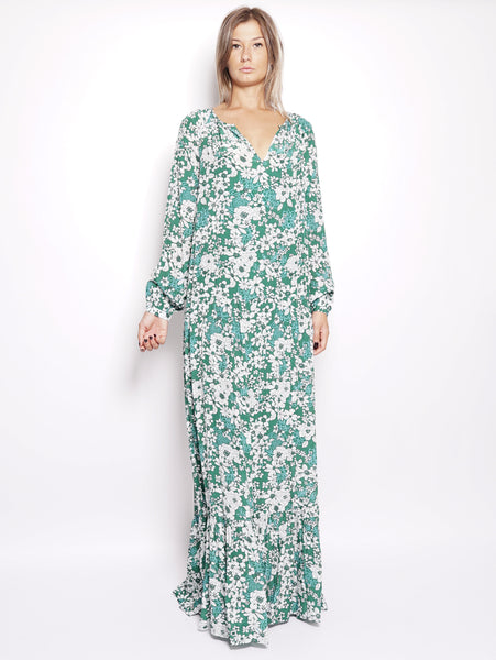 ESSENTIEL Abito lungo a fiori  - Ren Long Dress Verde Trymeshop.it