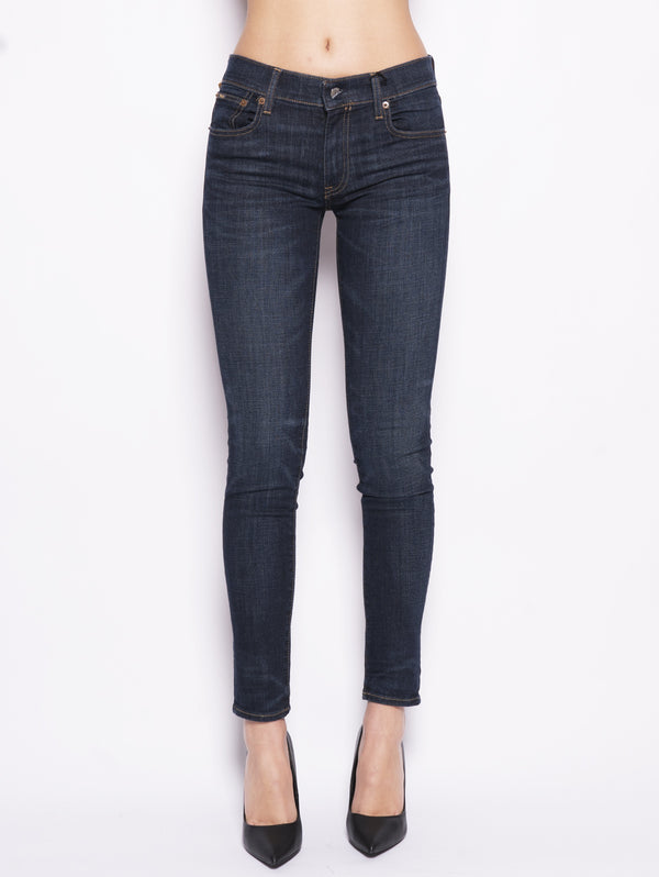 RALPH LAUREN-Tompkins skinny Denim Scuro-TRYME Shop