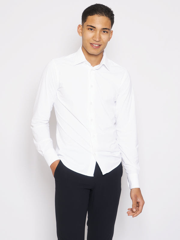 RRD-Camicia Stretch in Lycra Bianco-TRYME Shop