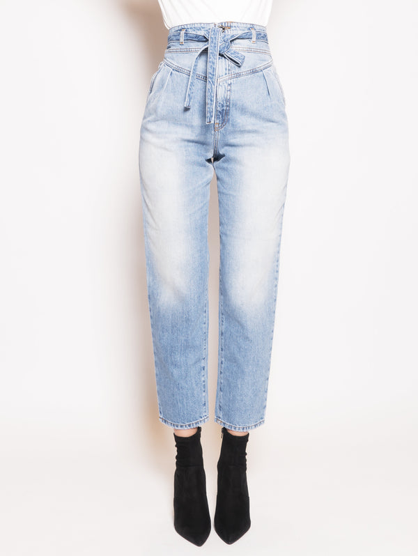 PINKO-Denim Carrot Fit Nocino Blu-TRYME Shop