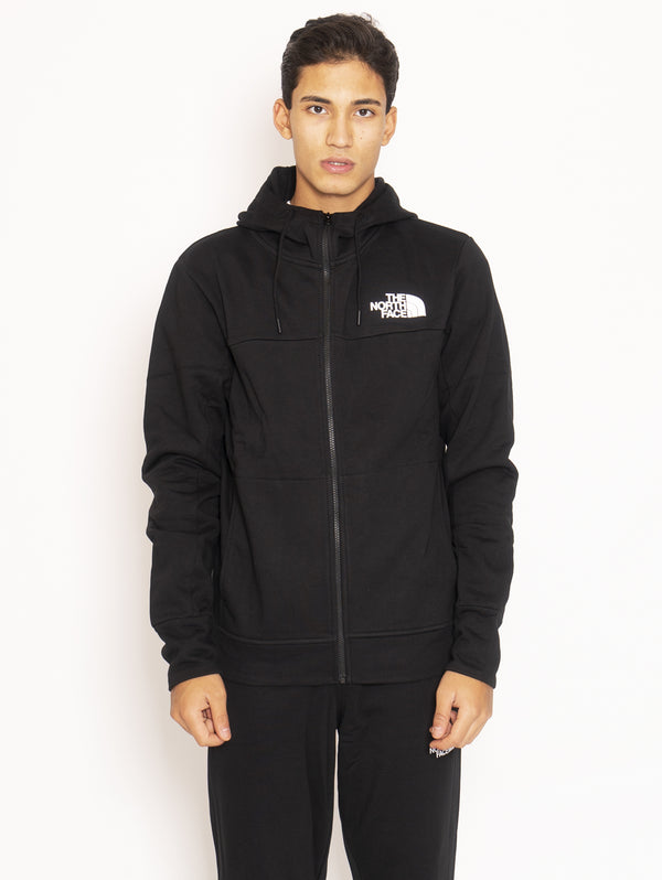 THE NORTH FACE-Felpa full zip con cappuccio - Nero-TRYME Shop