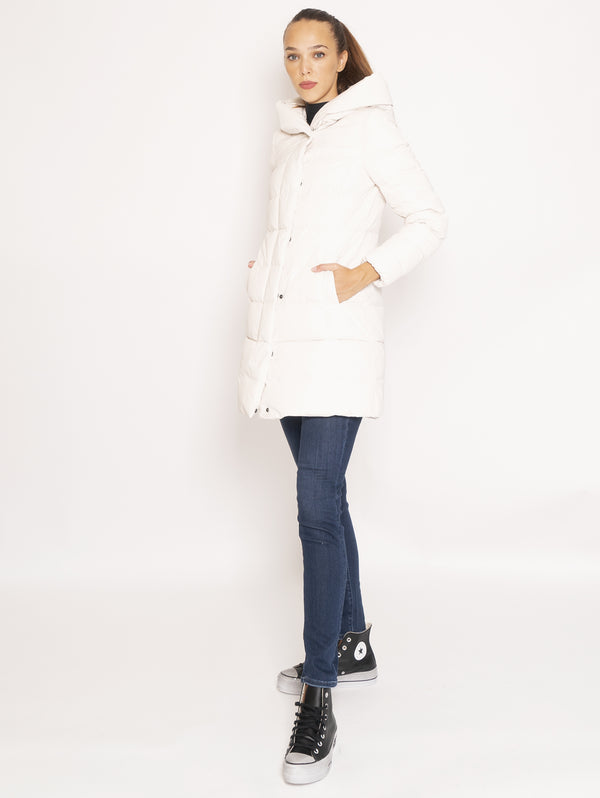 Giaccone Parka in City Fabric - Bianco