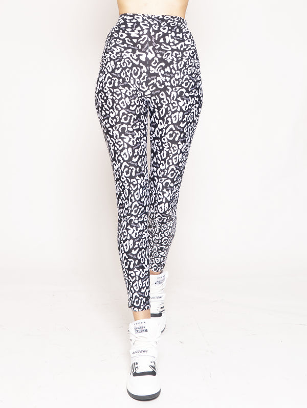 ANIYE BY-Leggings con Stampa Leni Maku Black-TRYME Shop