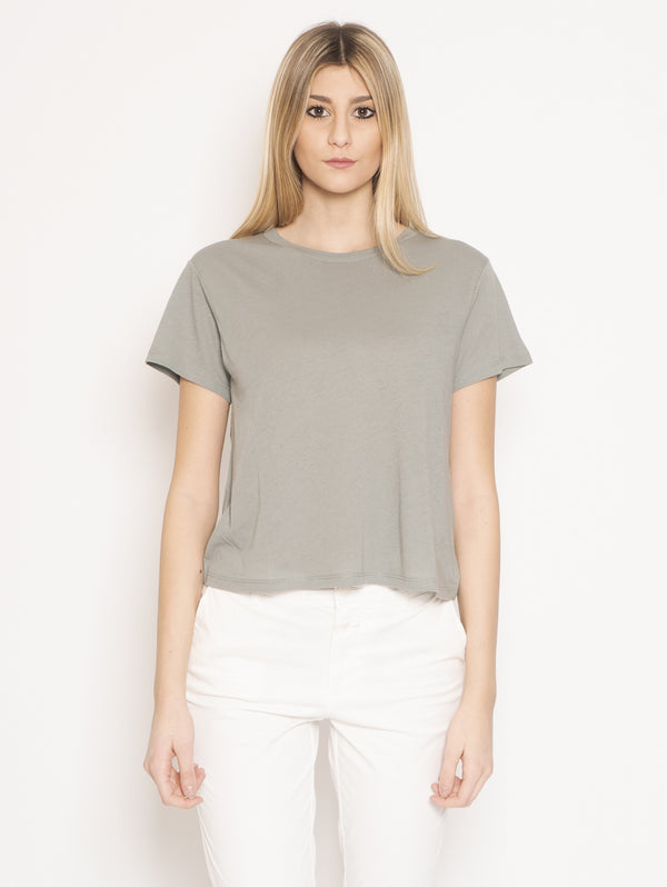 CLOSED-T-shirt con Piega Posteriore Verde-TRYME Shop