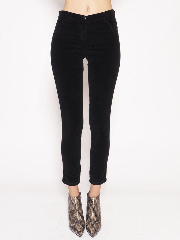 W'S Stretch Velvet Pant  Nero