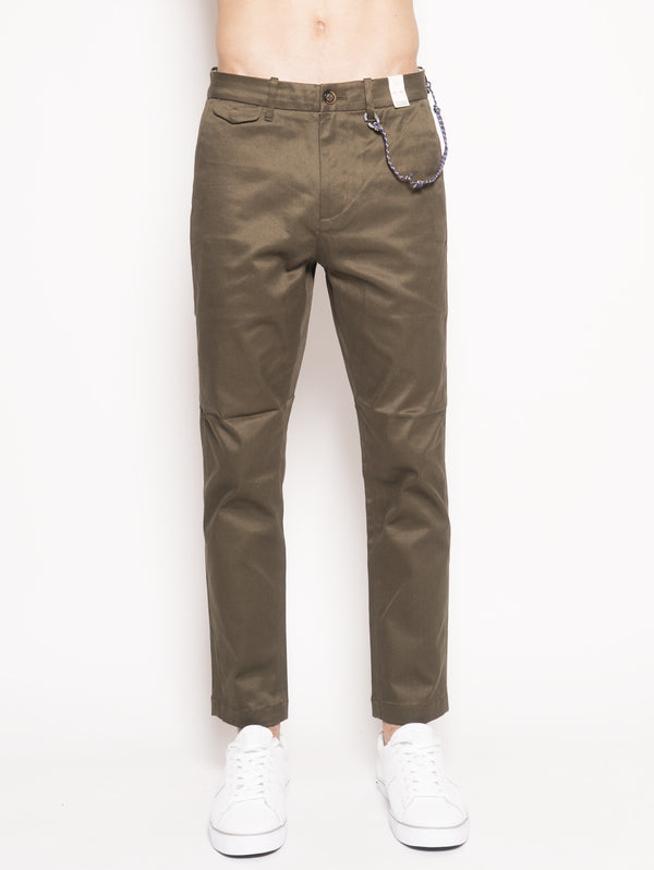 Atelier Cropped Regular Fit Japanese Twill Chino Verde