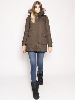 WOOLRICH-Parka con Piumino Staccabile Verde-TRYME Shop