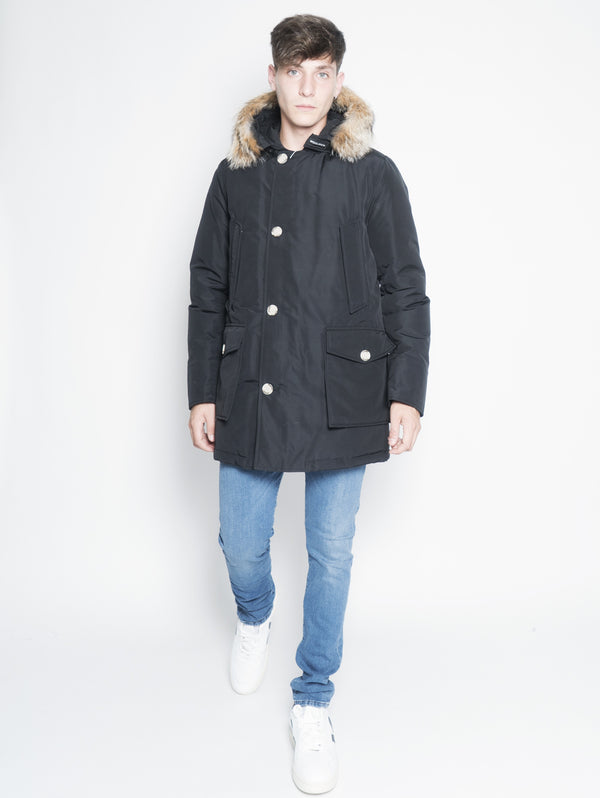 WOOLRICH-Parka Arctic in Ramar DF Nero-TRYME Shop