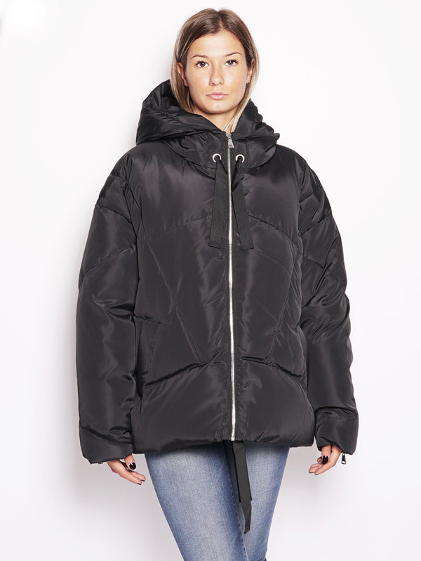 Piumino oversize - Rainproof Down Jacket Nero-Jacket-ESSENTIEL-TRYME Shop
