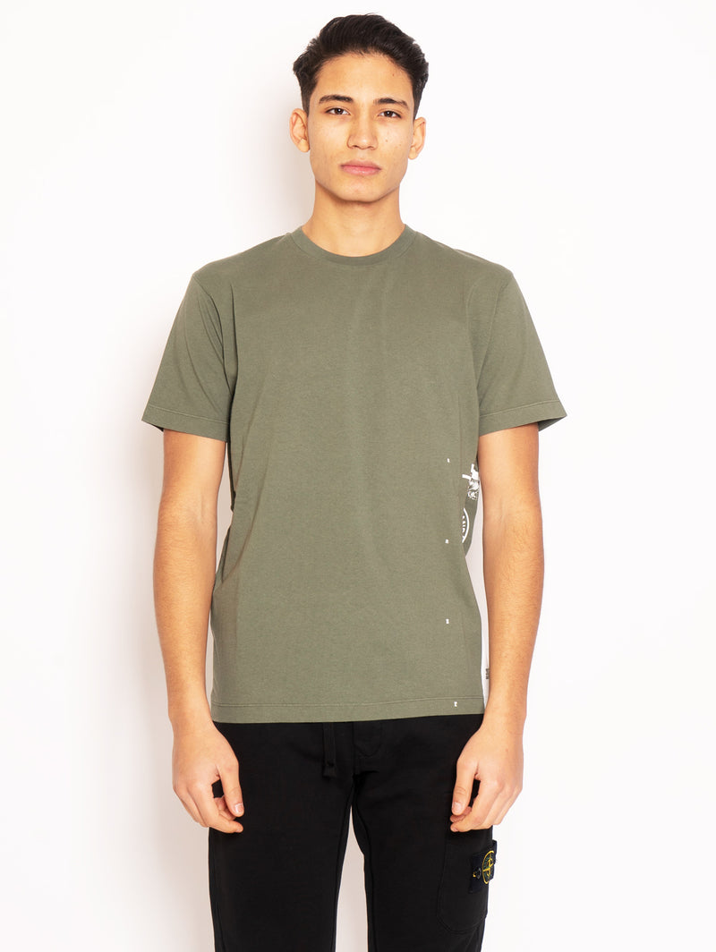 STONE ISLAND-T-shirt con Stampa Verde-TRYME Shop