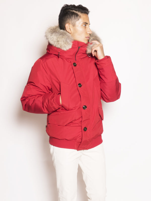 WOOLRICH-Bomber Polar in Ramar Rosso-TRYME Shop