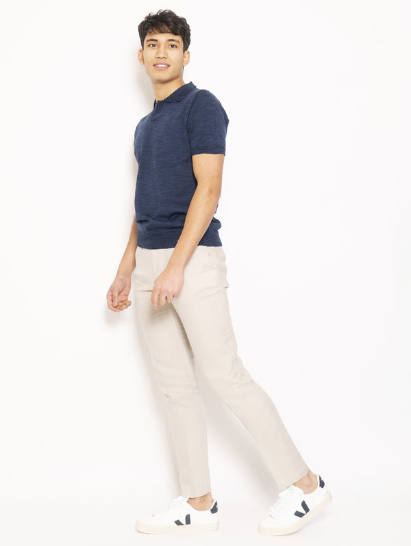 Pantalone con Coulisse Beige