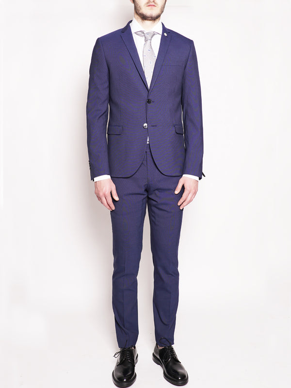 MANUEL RITZ-Abito slim fit Blu Royal-TRYME Shop