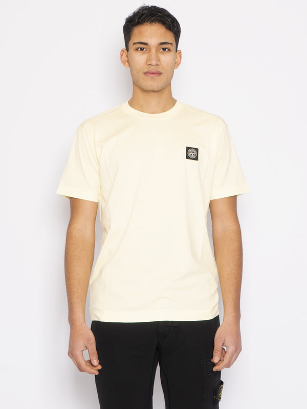 STONE ISLAND-T-shirt con Patch Logo Limone-TRYME Shop