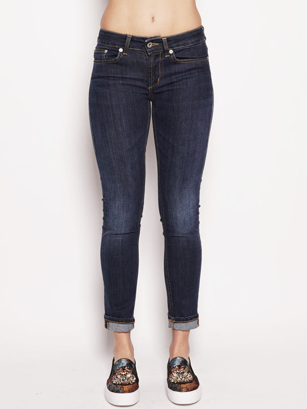 Jeans skinny in denim superstretch Denim scuro-Jeans-dondup-TRYME Shop