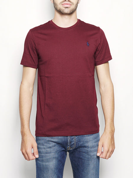 Maglietta in cotone Custom Slim-Fit Bordeaux