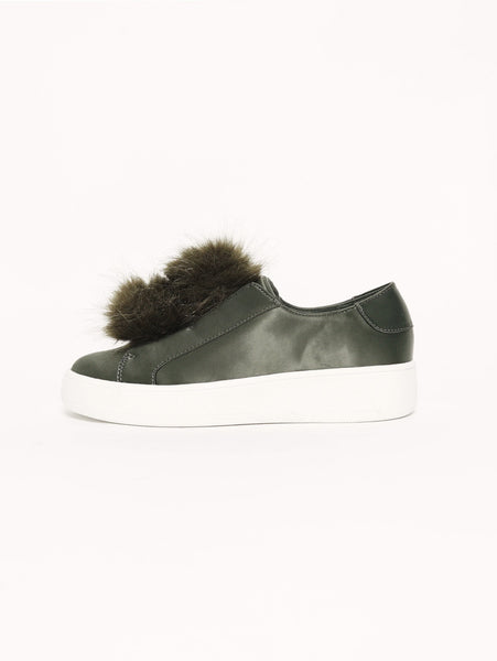 BREEZE - SLIP ON SATINATA Verde oliva STEVE MADDEN TRYMEShop