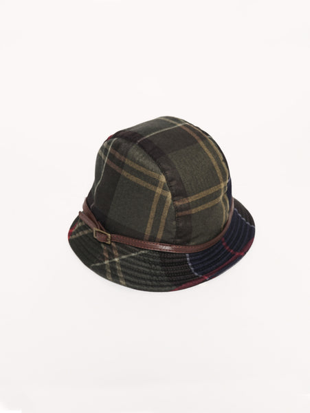 Lady Winter  Tartan Hat Tartan verde Barbour TRYMEShop