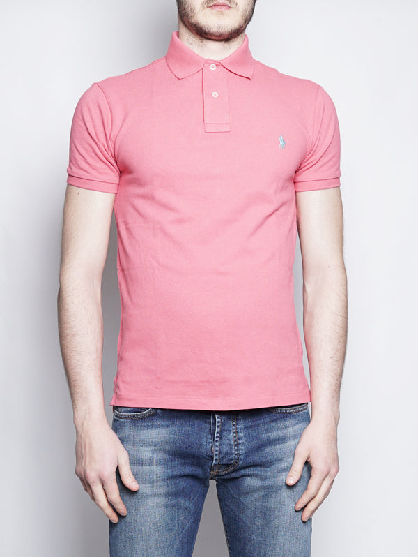 RALPH LAUREN-Polo in Piqué Slim-Fit Geranio-TRYME Shop