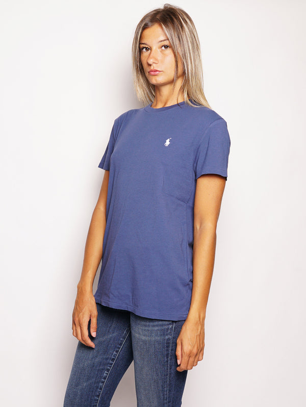 RALPH LAUREN-T-shirt in cotone Blu-TRYME Shop