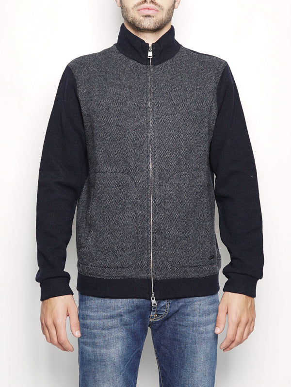 LIGHT WOOL COTTON TRACK Blu-Maglieria-WOOLRICH-TRYME Shop