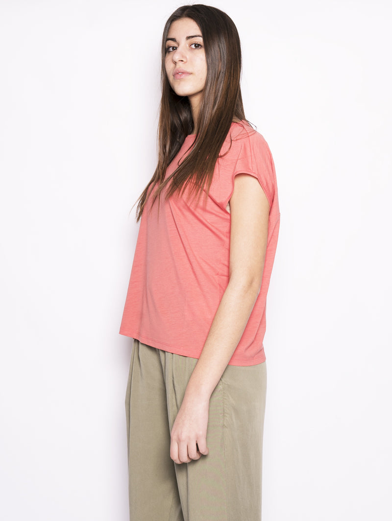 WOOLRICH-T-shirt in jersey Corallo-TRYME Shop