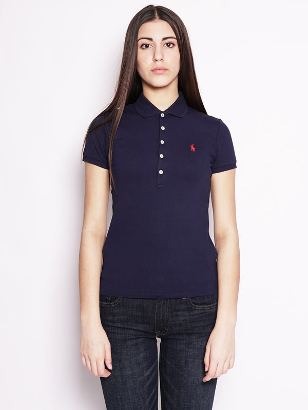 RALPH LAUREN-Polo stretch Slim-Fit Blu-TRYME Shop