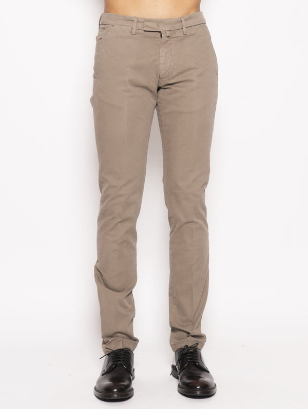 40WEFT-Chino slim Marrone-TRYME Shop