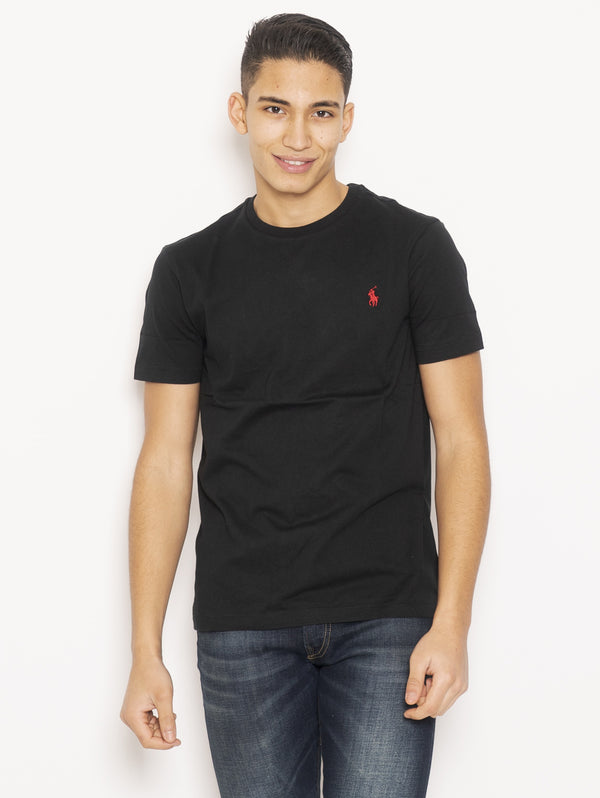 RALPH LAUREN-T-Shirt in Cotone Nero-TRYME Shop