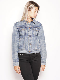 RALPH LAUREN-Giacca in Denim Blu-TRYME Shop