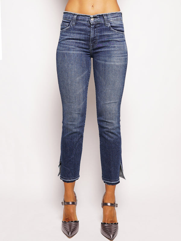 J BRAND-Selena Mid-Rise Croop Boot Denim-TRYME Shop