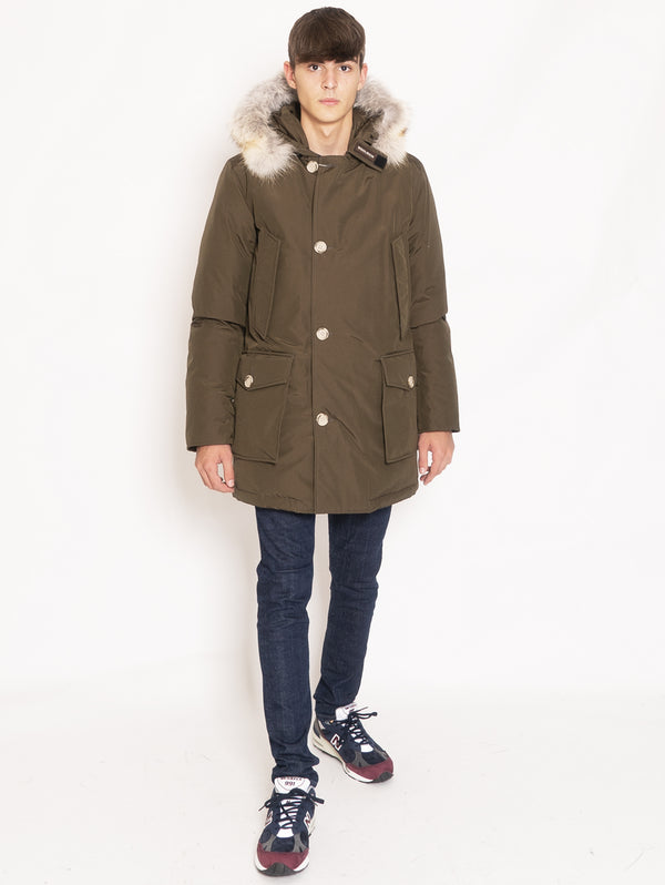 WOOLRICH-Giaccone Parka in Ramar - Verde-TRYME Shop