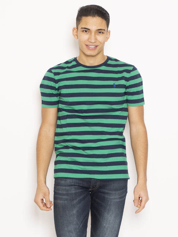 RALPH LAUREN-T-shirt a Righe Custom Slim Fit Multicolor-TRYME Shop