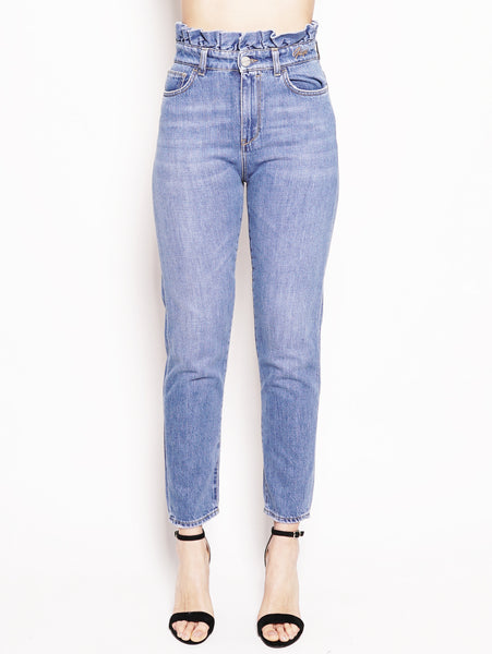 Denim con rouches in vita  Denim
