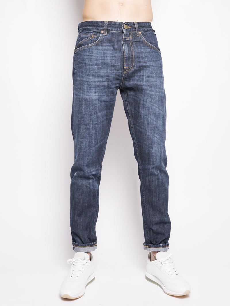 CLOSED-Jeans Relaxed Cooper Tapered Scuro-TRYME Shop